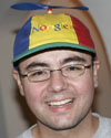 Joe Beda wearing his Noogler hat