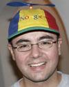 Joe Beda wearing his Noogler hat